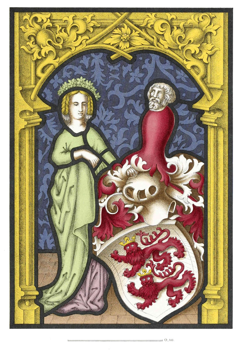 Glasgemälde vom Ende des 15. Jahrhunderts.