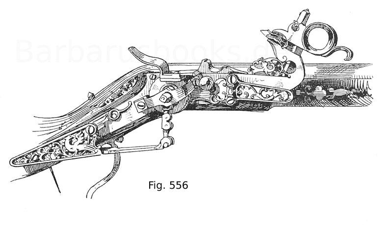 Fig. 556. Kurländisches, sogenanntes Tschinkenradschloss. Anfang 17. Jahrhundert.