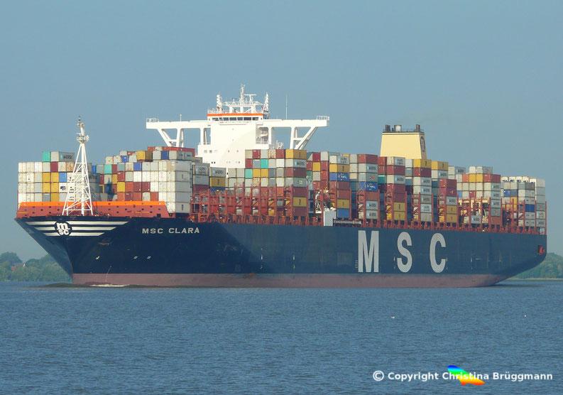 MSC CLARA auf der Elbe 10.09.2016