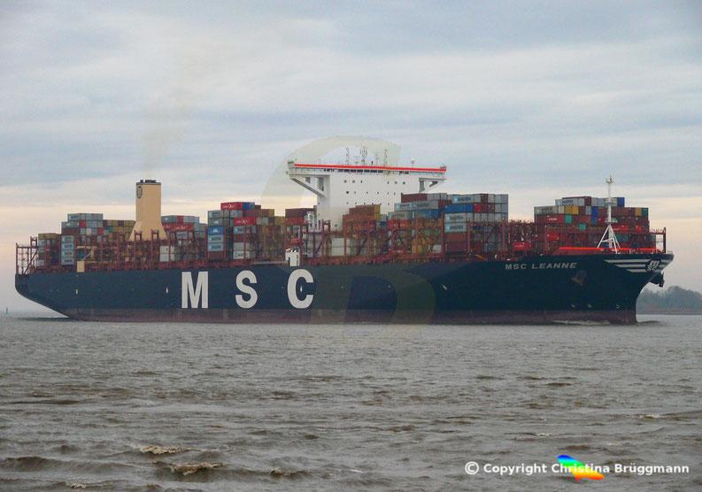Containerschiff MSC LEANE, Elbe 10.11.2018