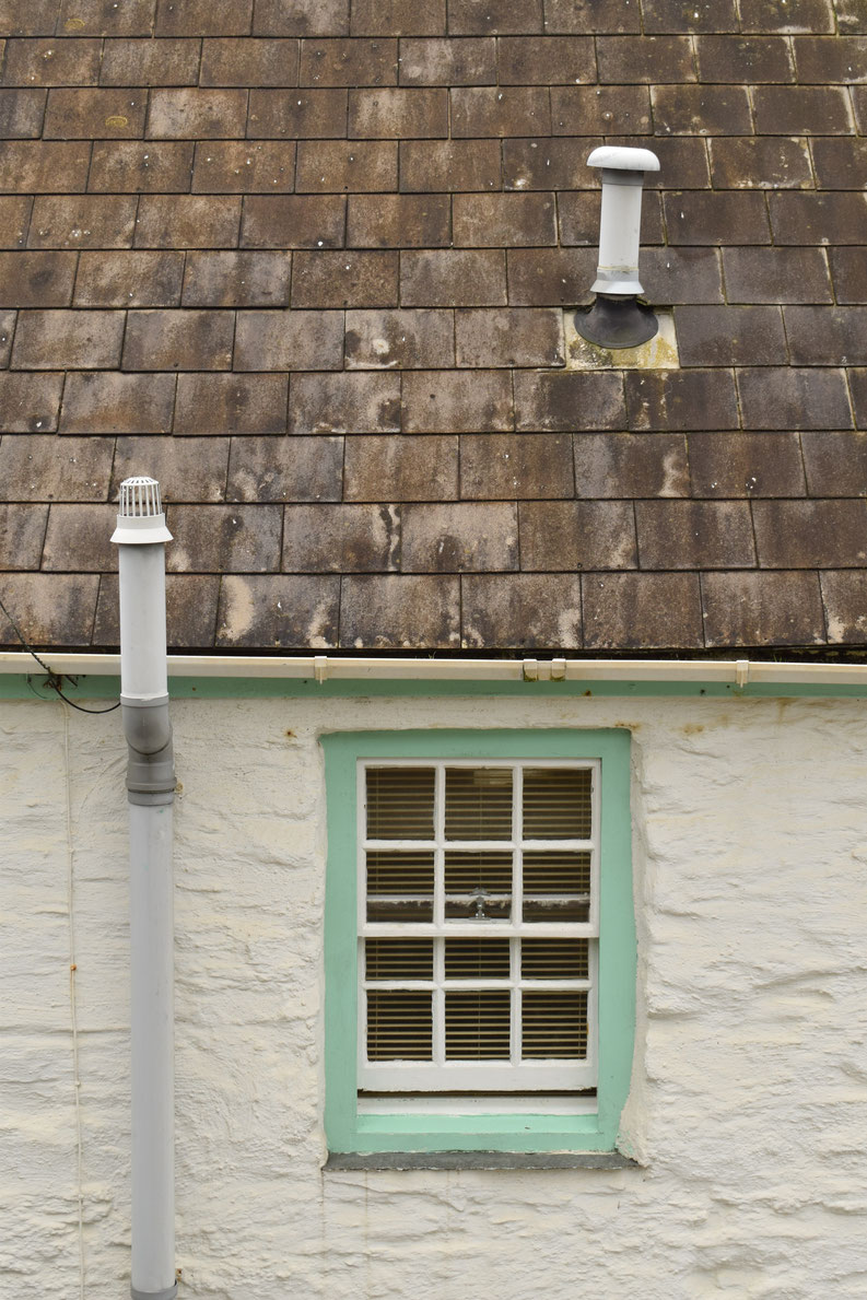Portreach, roof and window, Cornwall