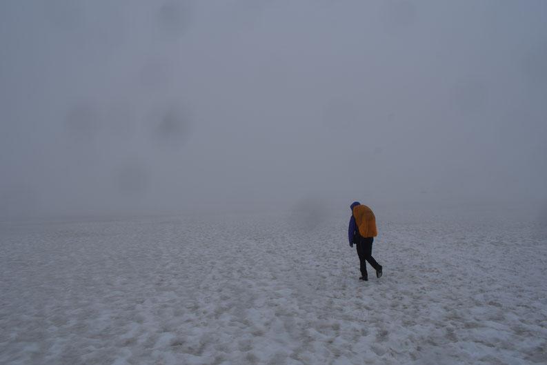 Laugavegur snow in July