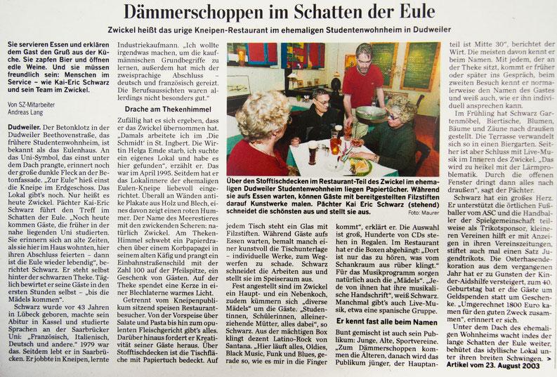 SZ-Artikel vom 23.08.2003 – Draufklicken zum Vergrößern!