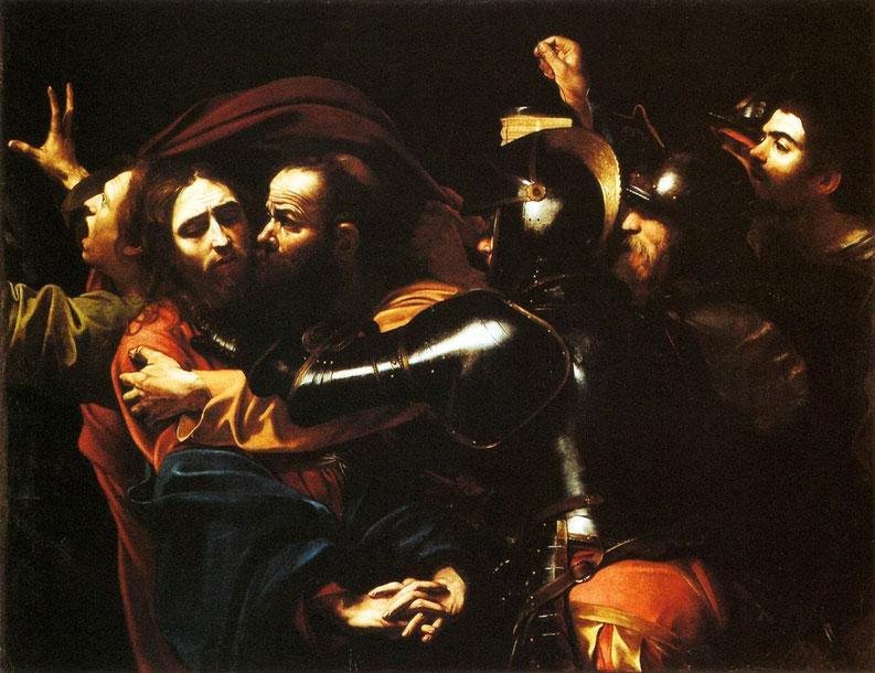 """Caravaggio, """"Cattura di Cristo"""" (1602)"""