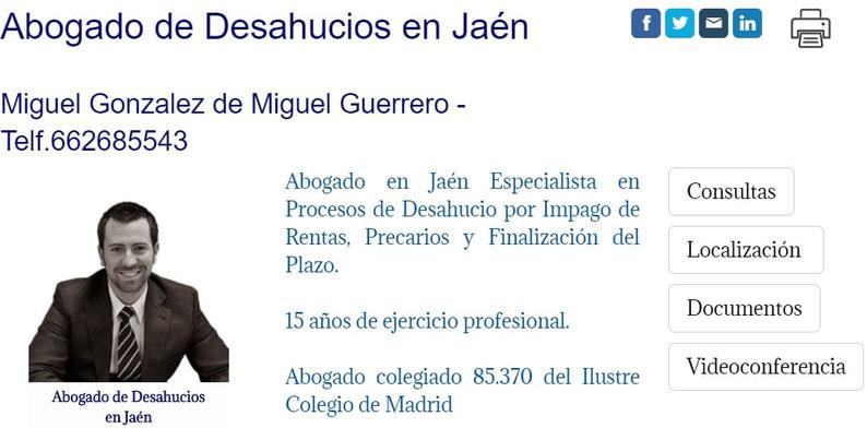 Abogado de Desahucios en Jaén
