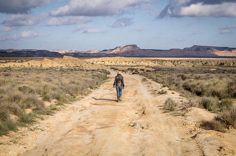 Sur la route des Bardenas © Marie-Laure Hastoy