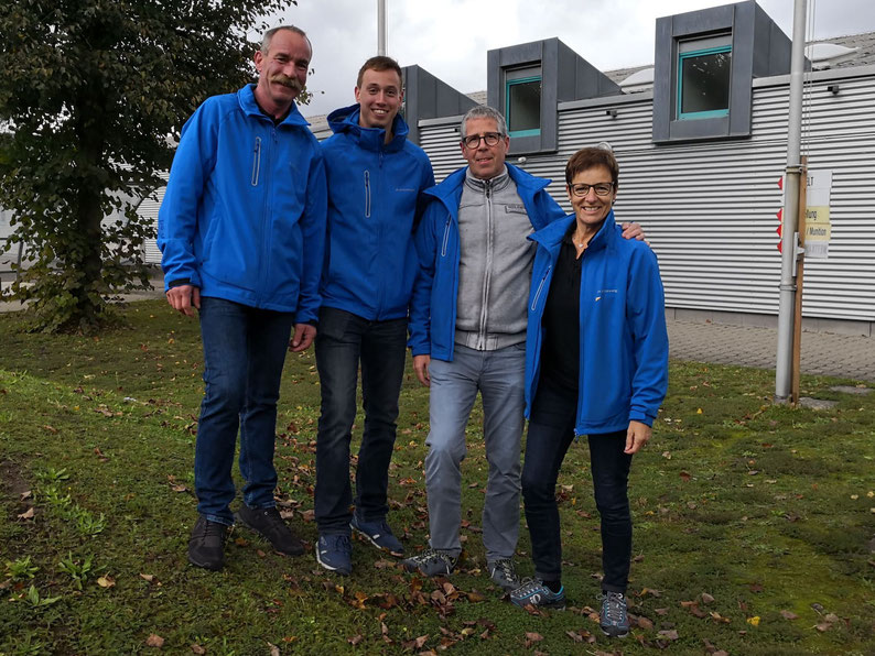 Die Grosswanger Delegation an der SPGM 50m:  René Koller, Seppi Meier, René Glanzmann und Anneliese z'Rotz.
