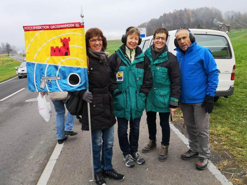 Morgartenschiessen 2018, Pistolensektion Grosswangen, Trudi Leuthold, Bertha Huber, Anneliese Z'Rotz, Nicola Gioiello