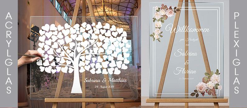 Acrylglas Plexi Hochzeitsschild Gästebuch Hochzeitsgeschenk