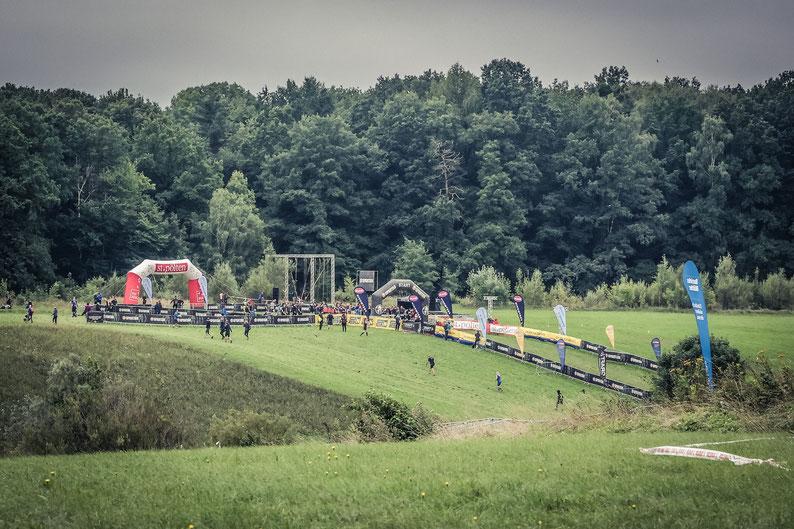 Der Start- und Aufwärmbereich des Rennens in St. Pölten 2021