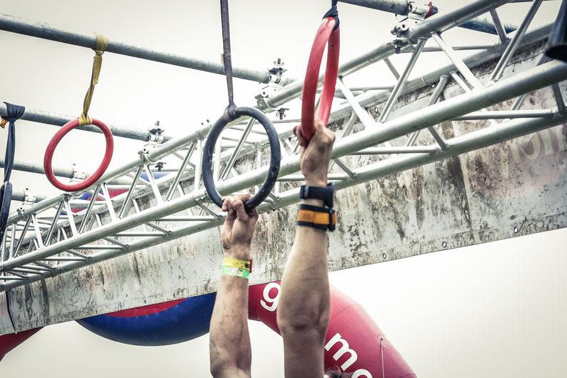 Alle körperlichen Fähigkeiten müssen im Laufe der Strecke abgerufen werden können: Ausdauer, Kraft, Koordination und Beweglichkeit.