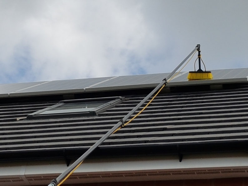 Dirty solar panels produce less electricity. We can clean and maintain your solar panels to keep them in optimum working order.