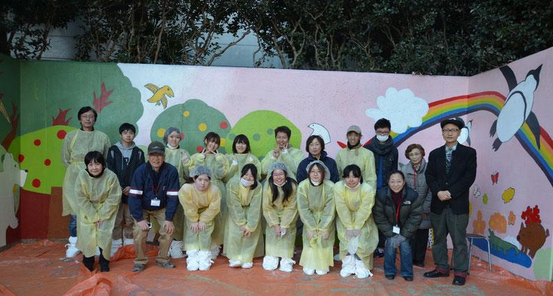 北新宿公園の壁画完成!