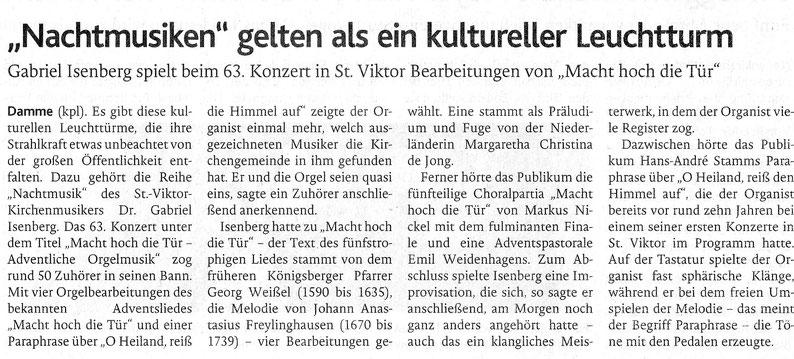 Oldenburgische Volkszeitung, 13.12.2018