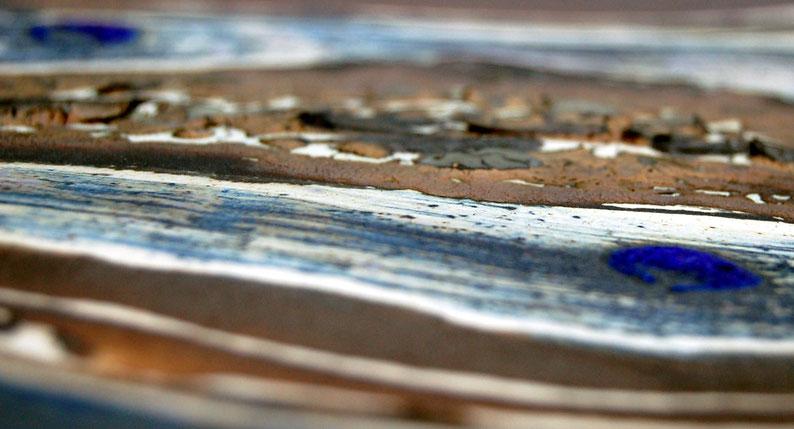 Close up van een platte schaal