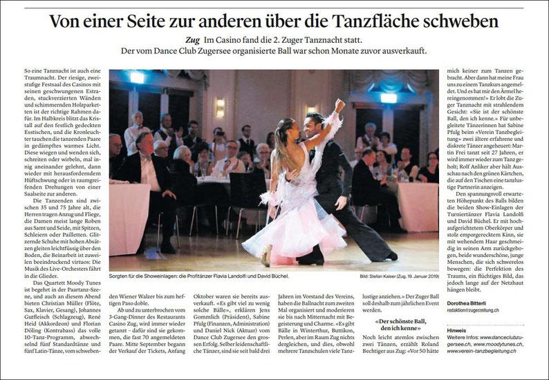 Quelle: Zuger Zeitung Ausgabe vom 21.01.2019 / S. 15