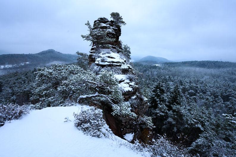 Lämmerfelsen Schnee Dahn Winter