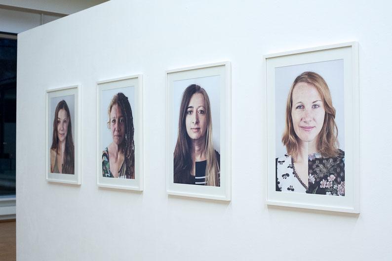 """Ausstellungsansicht """"DNA-PORTRAITS"""""""