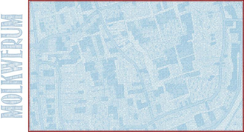 Het Friessche Doolhoff, het Beruchte Dorp Molk-worren in Friesland; in de Griettenije van Heemelumer Oldeferd; tusschen Staaveren en Hindeloopen. Gemeeten en Geteekend 1718, door Joh. Hilarides, 1:3000, Fries Scheepvaartmuseum, FSM-I-028.