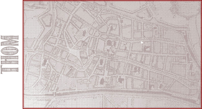 'Platte grond der stad Utrecht, Vertoonende alle Gragten, Straaten, Steegen, Gangen, Markten, en plaatsen der openbare Gebouwen', Praalder, e.a., 1:2800, 1776. Het Utrechts Archief, Inv. Nr. 216705.