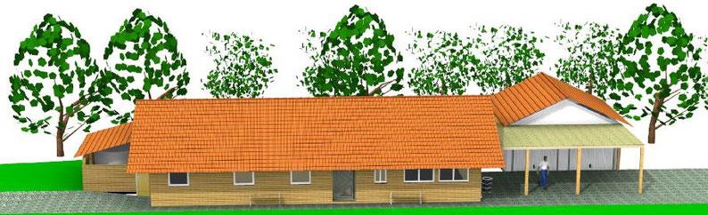 """Hier gehts zu unserem brandaktuellen Projekt zum Bau eines Funktionsgebäudes ! (oder über Navigation links - """"Projekte"""")"""
