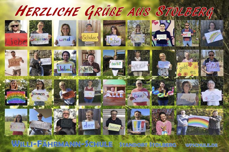 Umsetzung: Kollegium der Willi-Fährmann-Schule am Standort Stolberg im April 2020