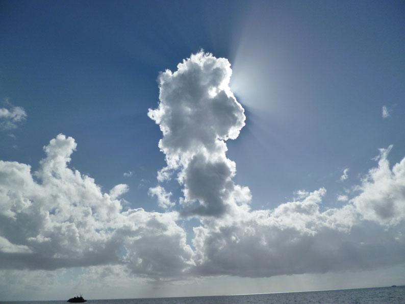 Haufenwolken Mauritius
