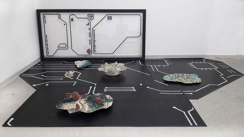 Plattemntectonic, Keramik, Kunst, Katrin Leitner, Installation, GIS, digital, display