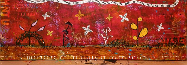 Flowers parade 5,  120 X 40 cm