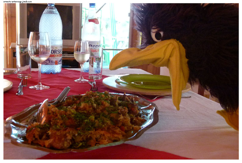 """Auf der Kingfisher (Hotelschiff im Donaudelta, """"Infos"""" am Seitenende) hatte man Erfahrung mit westlicher Diäternährung. Die Mahlzeiten waren angenehm leicht."""