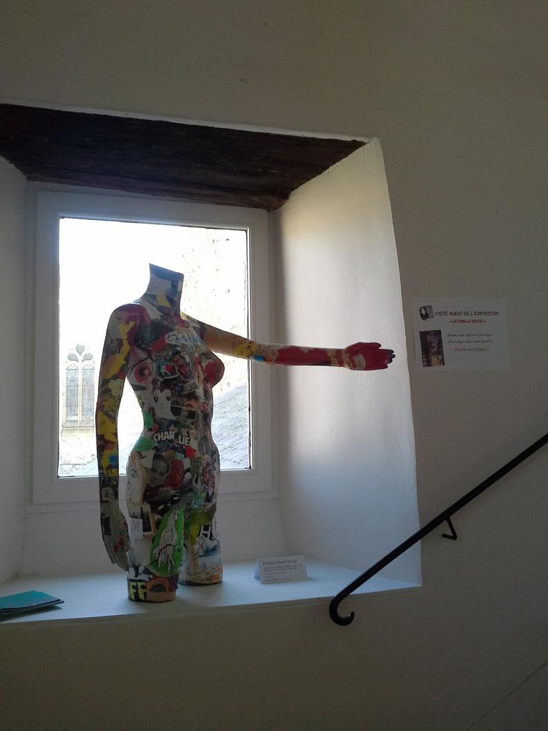 Création réalisée avec les jeunes et Céline Salin - Ty Up - Noyal sur Vilaine - Charlie Art Clyde