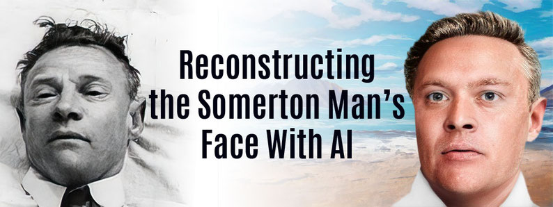 Reconstruction of the Somerton Man's Face with AI.