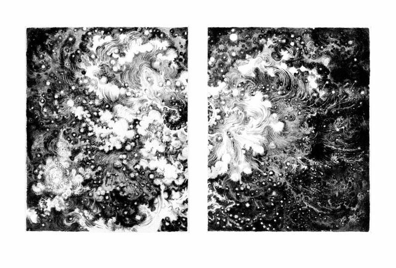 Matthias-Wyss-Kupferstich-Kaltnadel-Copper-Engraving-Drypoint-Cycle-2008–2009-Printing-Plates-20X25-Cm-N°1