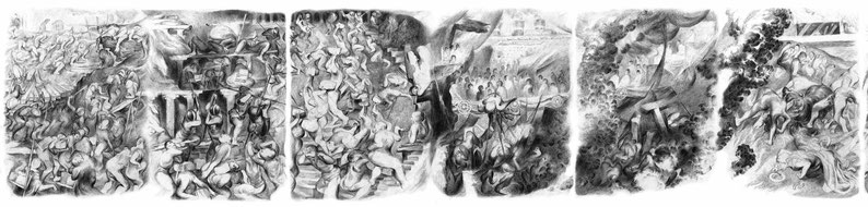 Matthias-Wyss-Panorama-2010-Pencil-On-Paper-28X398-Cm