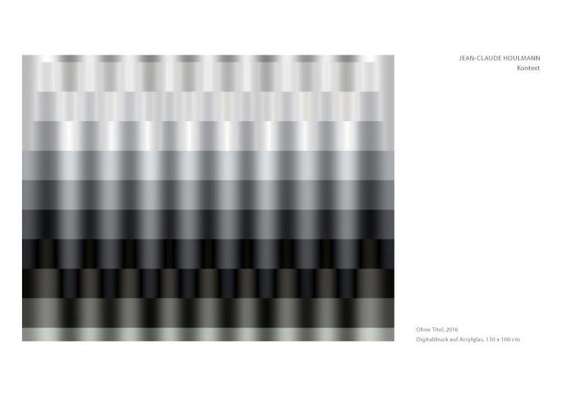 Jean-Claude Houlmann, Digitaldruck auf Acrylglas, 130x100cm