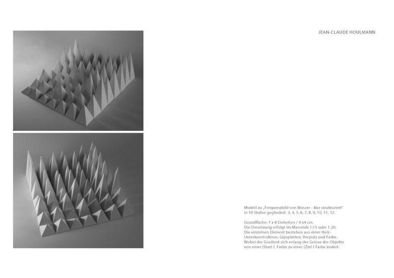 Jean-Claude Houlmann, Modell zu Frequenzbild von Wasser - klar strukturiert