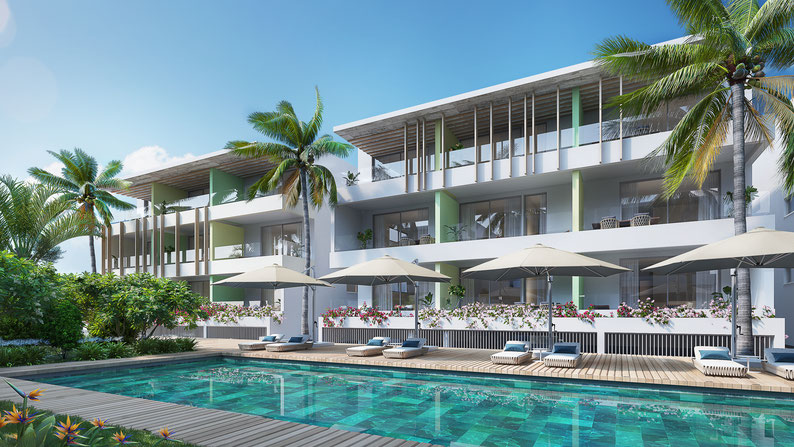 nouvelle résidence APPARTEMENTS OCEANA BAIN BOEUF ILE MAURICE