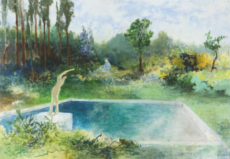 Au grand reservoir, 81 cm 116 cm, huile sur toile, 2020