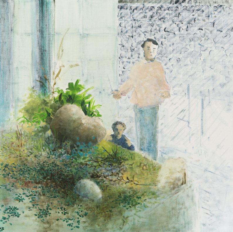 Le gave d'Oloron, 100cm 70cm, dessin à l'encre de Chine sur papier