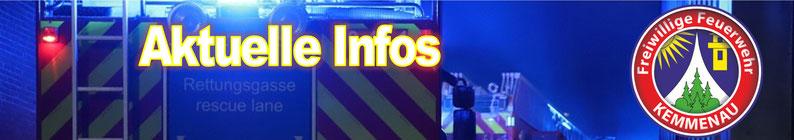 Aktuelles der FFW Kemmenau... einfach Infoseite anklicken oder Aktuelles in der Übersicht ....