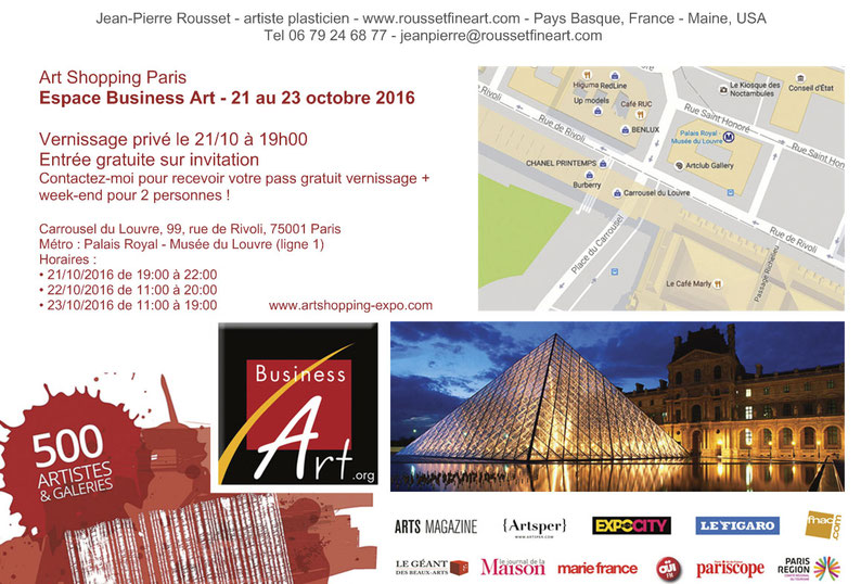 invitation Art Shopping Paris octobre 2016