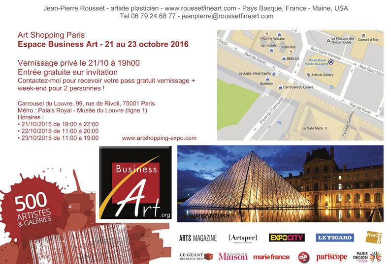 invitation Art Shopping Paris octobre 2016