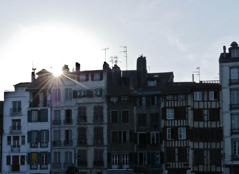 Bayonne au coucher du soleil
