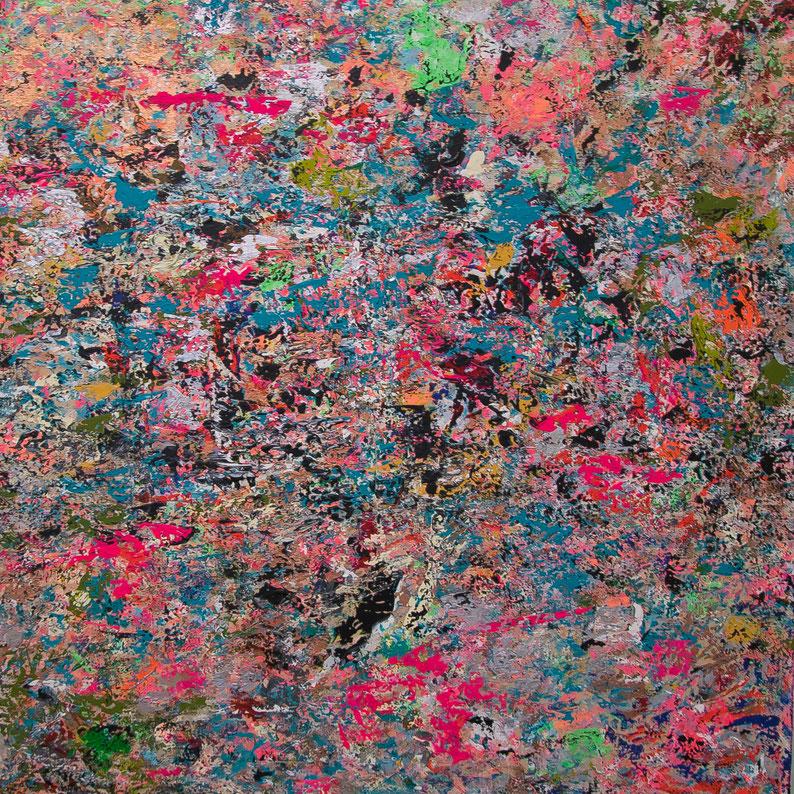 "Titel: ""TECHNO MOTHER"" (2016), 100 cm x 100 cm, 2016"