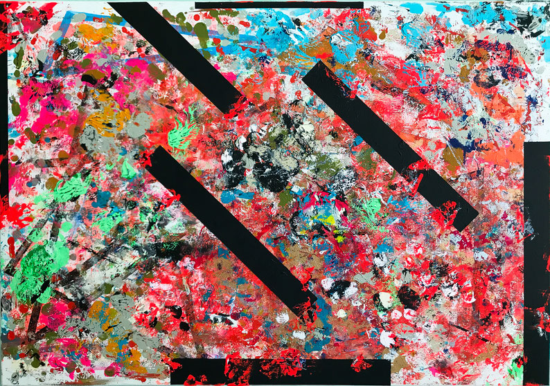 "Titel: ""ORDERS AND DISORDERS #1"" (2107), 70 cm x 100 cm"