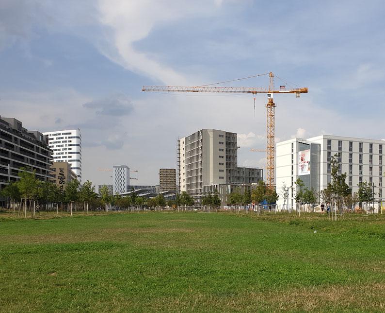 Unser Haus vom Helmut Zilk Park gesehen