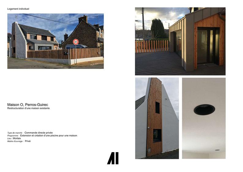 Agrandissement, agencement, projet, maison, Morlaix, Perros-Guirec, Finistère, Cote d'Armore Bretagne