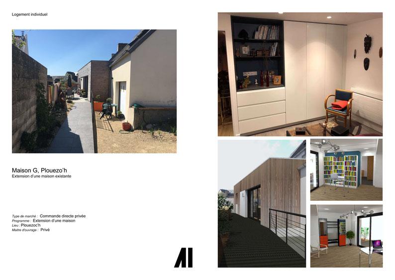 Agrandissement, agencement, projet, maison, Morlaix, Plouézoc'h, Finistère, Cote d'Armore Bretagne