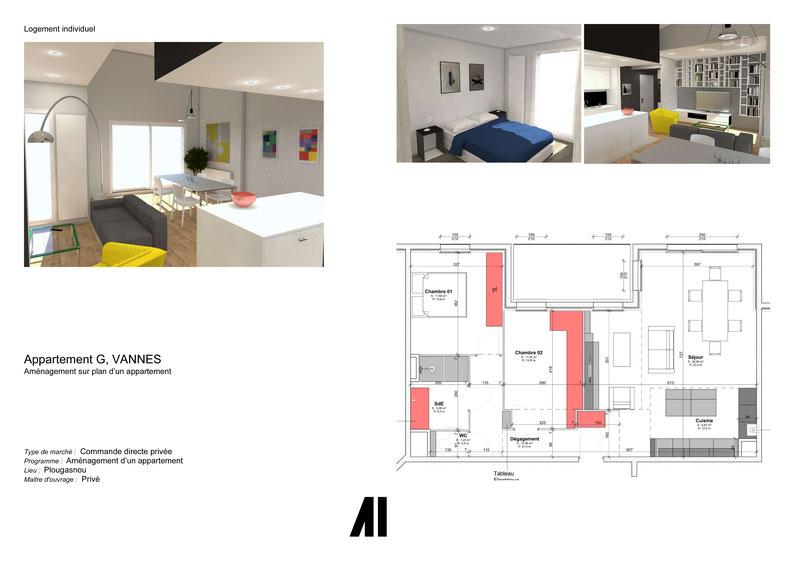 projet architecte d 39 int rieur pr sent en bretagne archi int. Black Bedroom Furniture Sets. Home Design Ideas