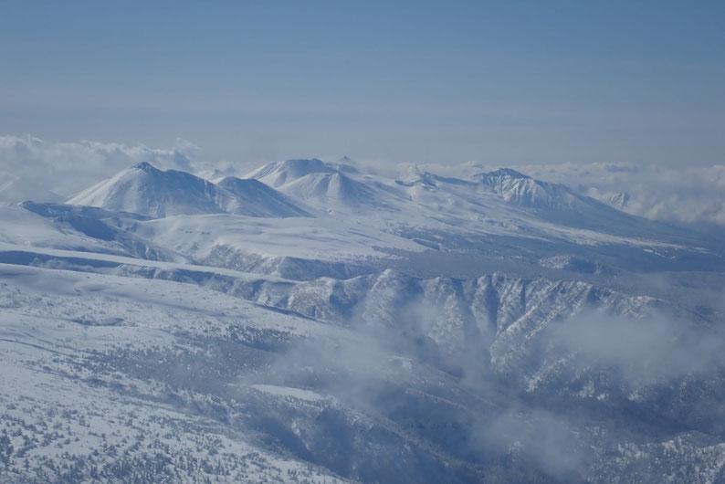 十勝連峰の山々